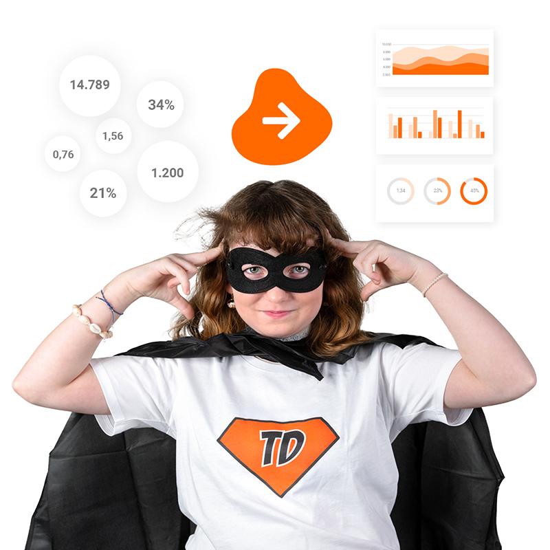 Hero Kid transformiert viele Zahlen in ein übersichtliches Dashboard