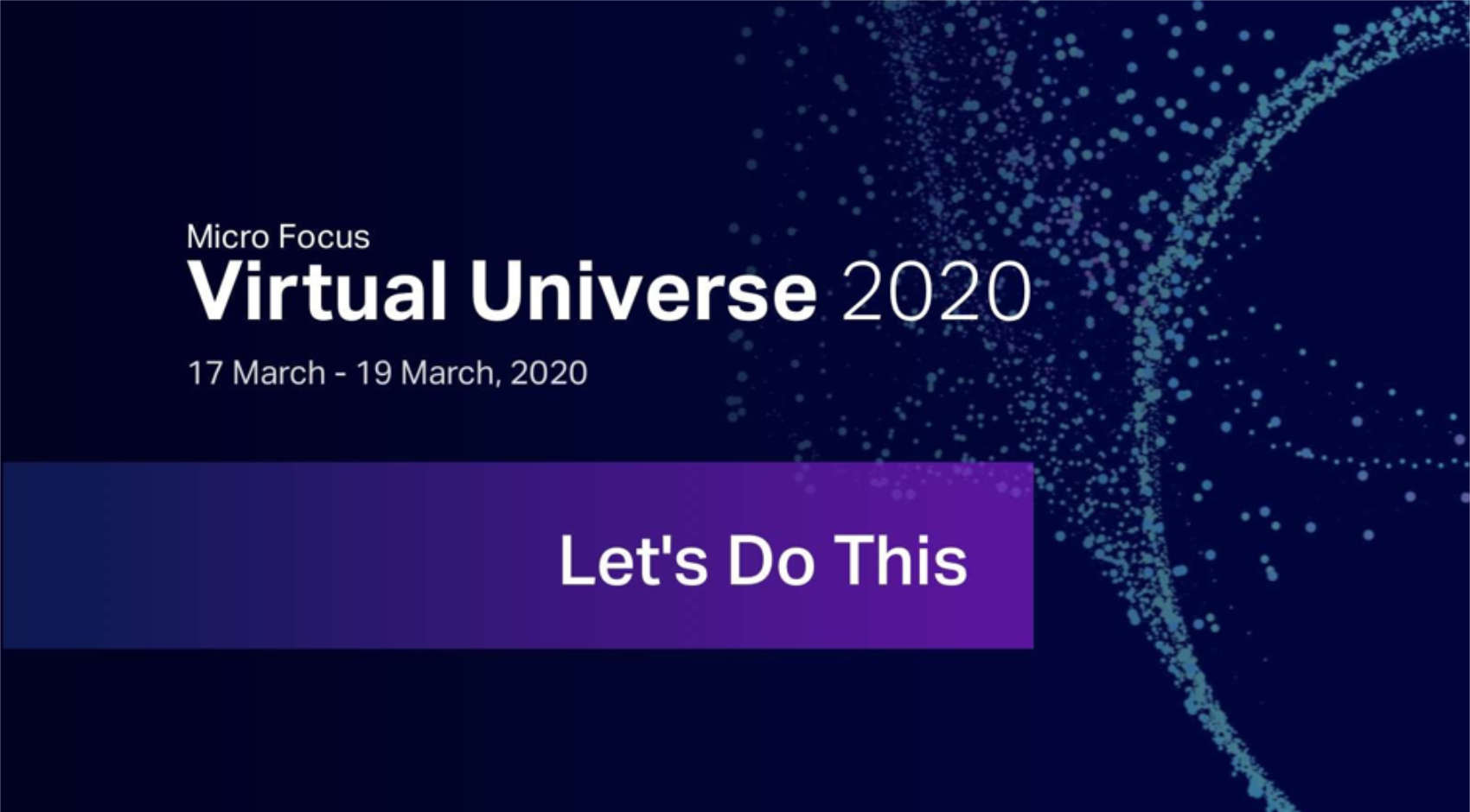 Headerbild mit Virtual Universe 2020